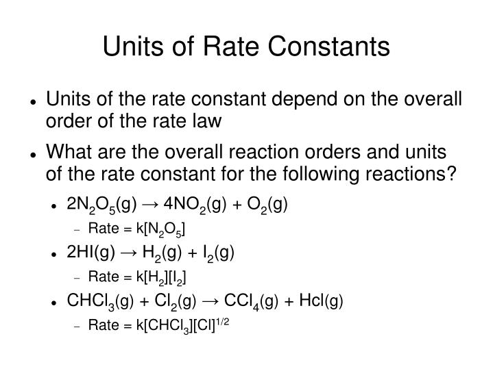 Units of Rate Constants