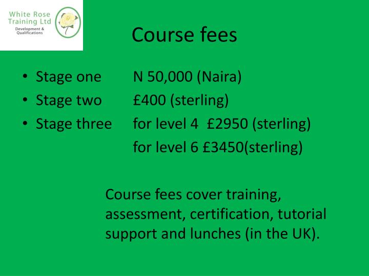 Course fees
