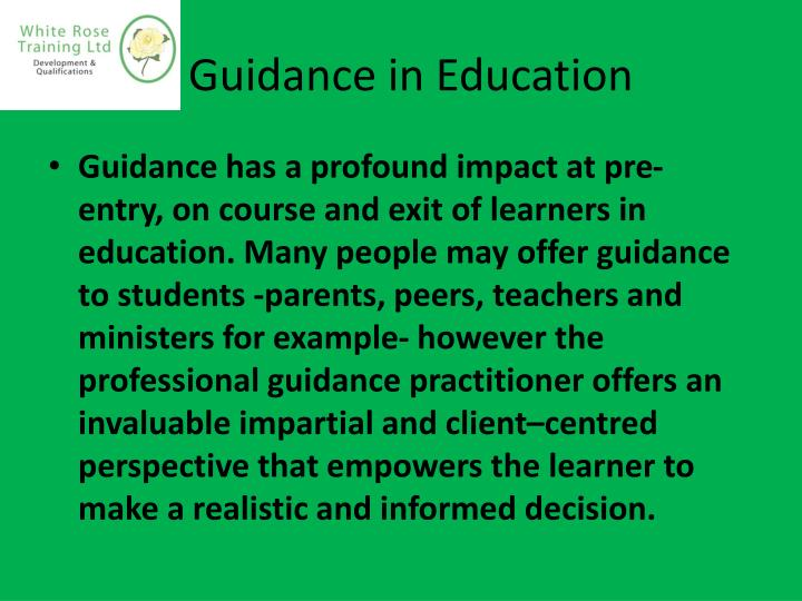 Guidance in education