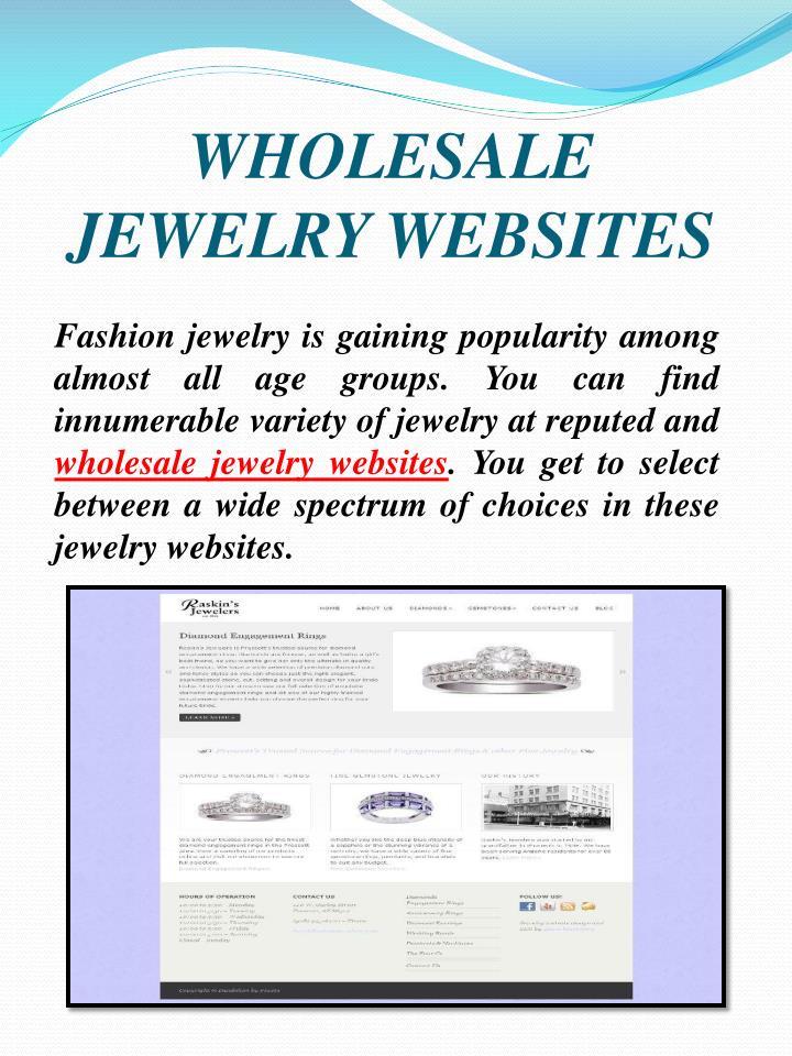 WHOLESALE JEWELRY WEBSITES