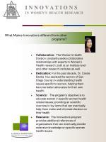 i n n o v a t i o n s in women s health research5