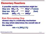 elementary reactions