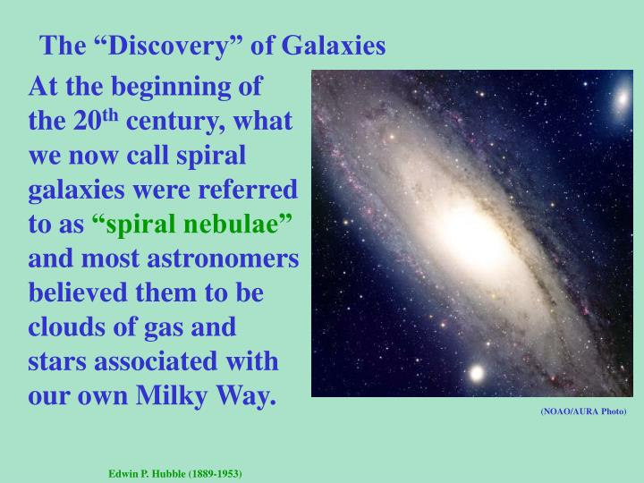 "The ""Discovery"" of Galaxies"