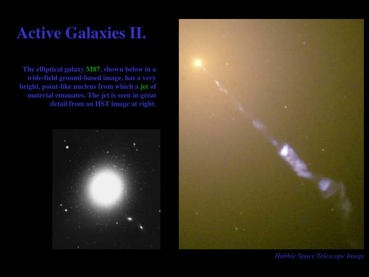 Active Galaxies II.
