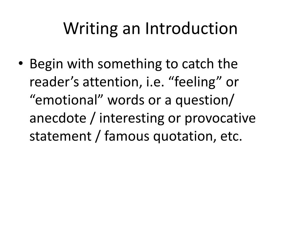 PPT - Writing a Multi-Paragraph Essay PowerPoint