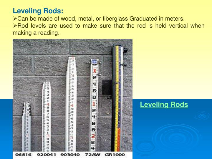 Leveling Rods: