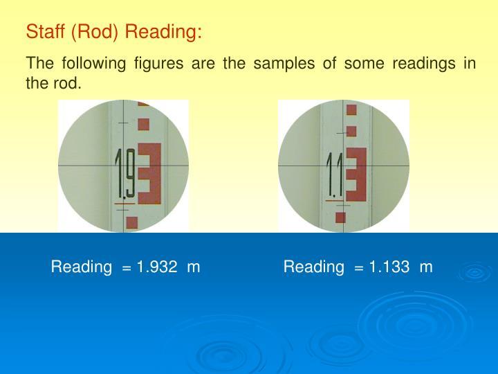 Staff (Rod) Reading: