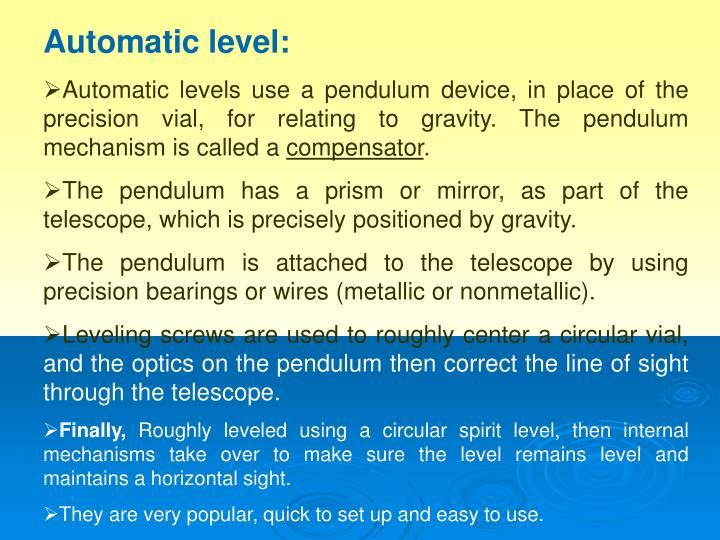 Automatic level: