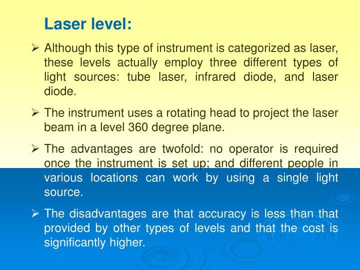 Laser level: