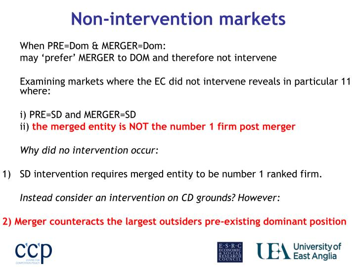 Non-intervention markets