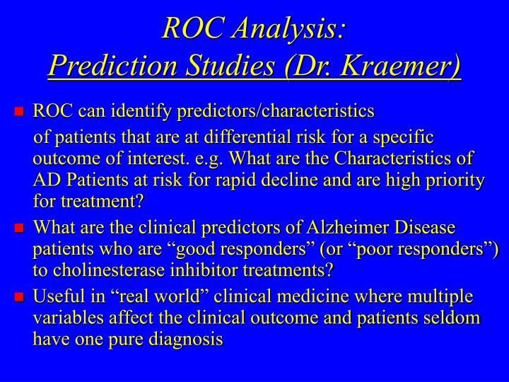 ROC Analysis: