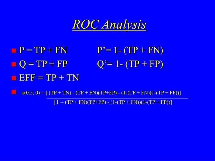 ROC Analysis