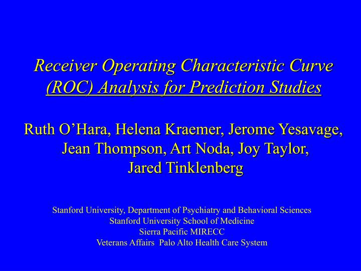 Receiver Operating Characteristic Curve