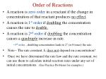 order of reactions