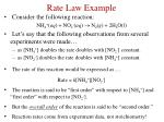 rate law example