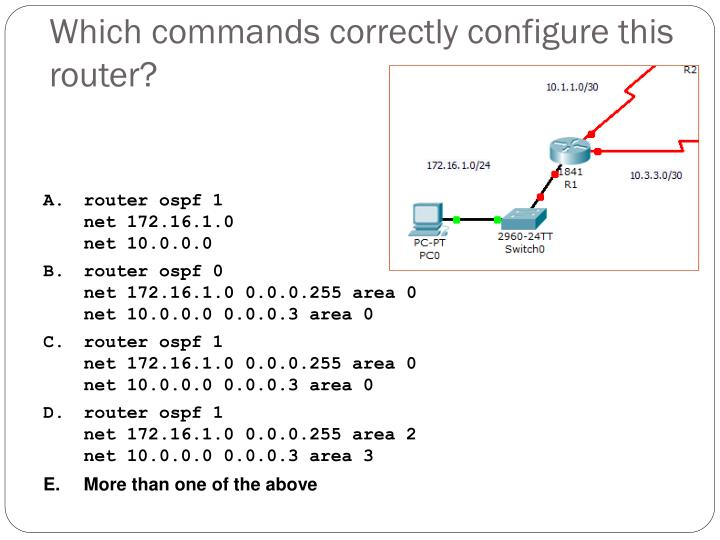 Which commands correctly configure this router?