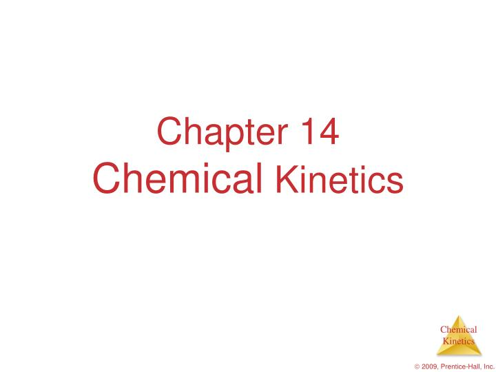 chapter 14 chemical kinetics n.