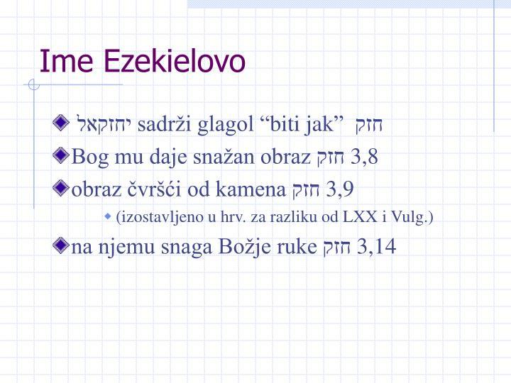 Ime Ezekielovo