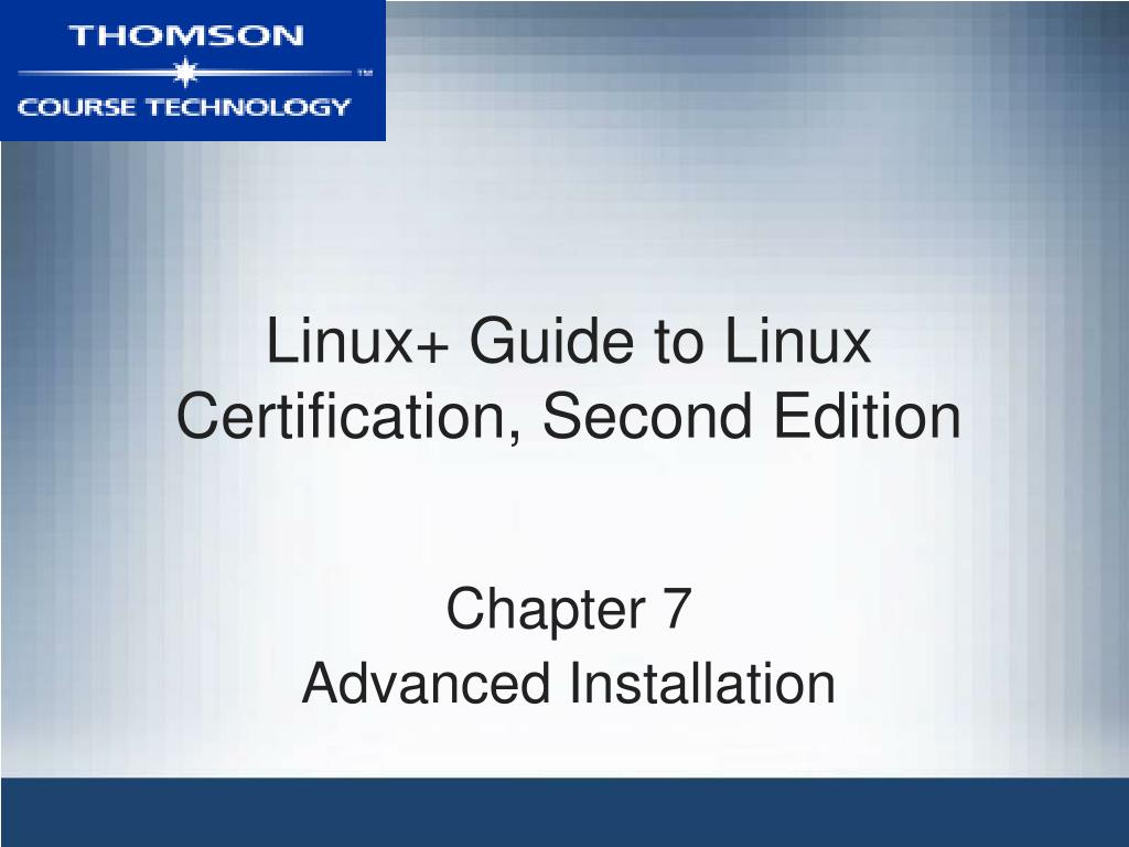 Ppt Linux Guide To Linux Certification Second Edition Powerpoint