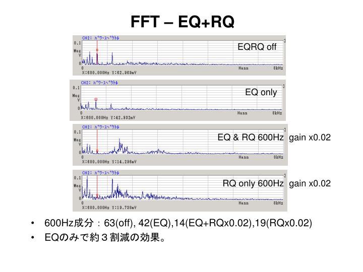 FFT – EQ+RQ