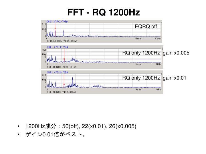 FFT - RQ 1200Hz