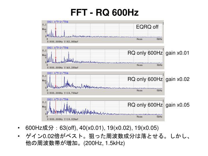 FFT - RQ 600Hz