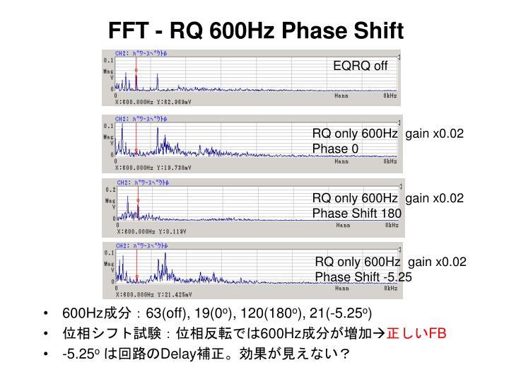 FFT - RQ 600Hz Phase Shift