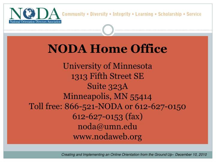 NODA Home Office