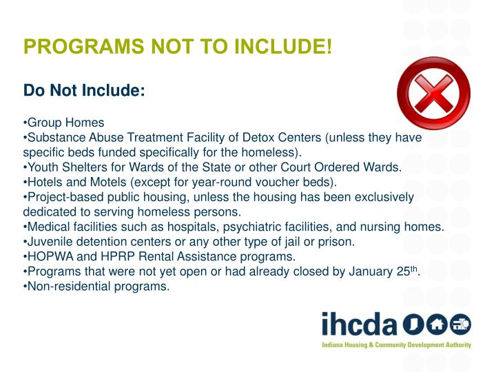 programs not to include!
