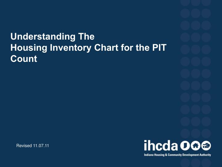 Understanding the housing inventory chart for the pit count