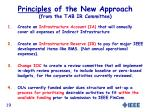 principles of the new approach from the tab ir committee