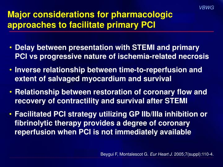 Major considerations for pharmacologic approaches to facilitate primary PCI
