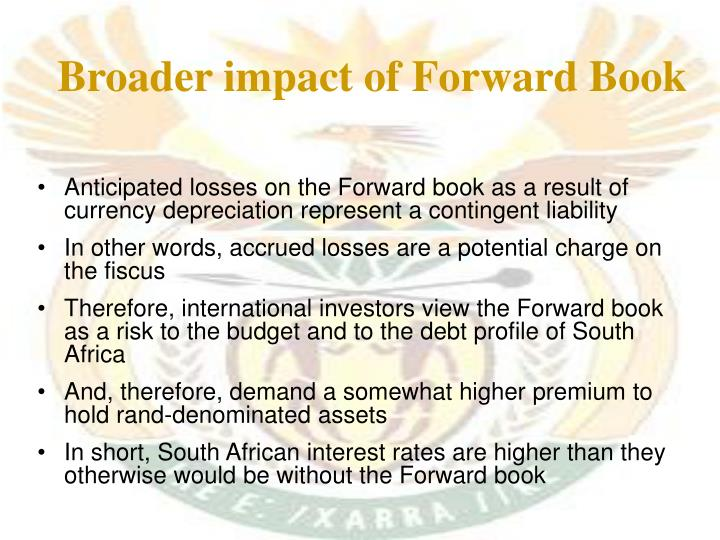 Broader impact of Forward Book