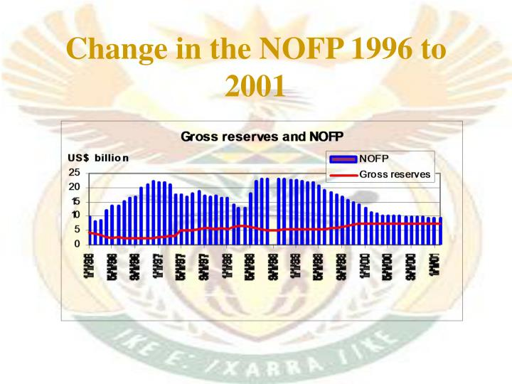 Change in the NOFP 1996 to 2001