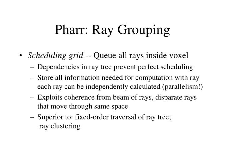 Pharr: Ray Grouping