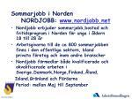 sommarjobb i norden nordjobb www nordjobb net