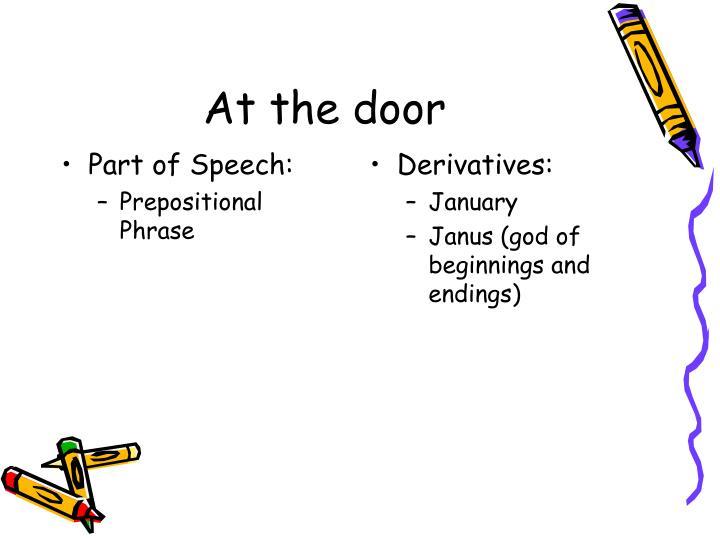 Part of Speech: