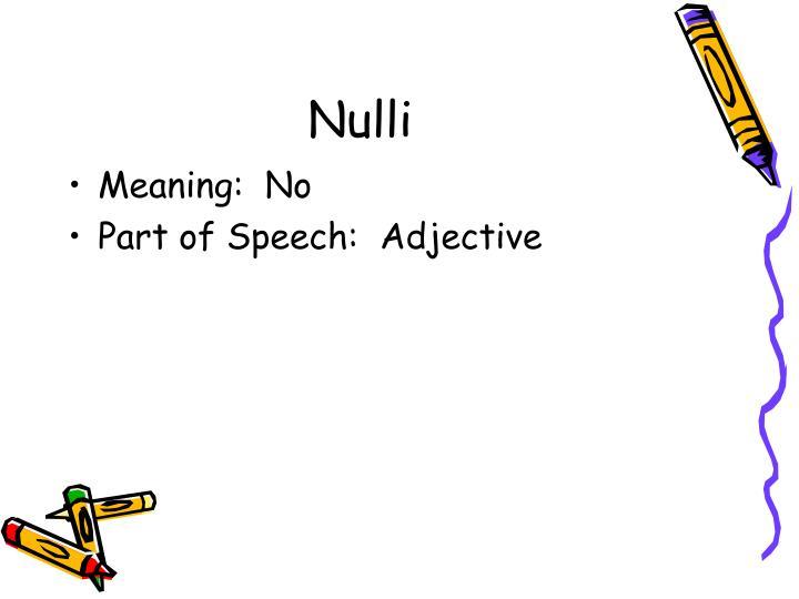 Nulli