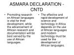 asmara declaration cntd
