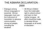 the asmara declaration 2000
