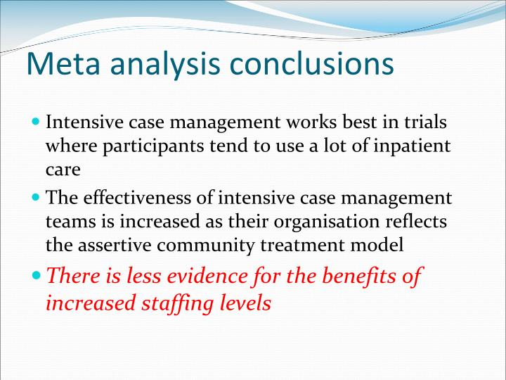 Meta analysis conclusions