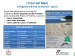 i treni del mare collegamenti diretti lombardia liguria