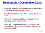 measurable observable goals