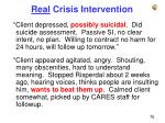 real crisis intervention