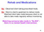 rehab and medications