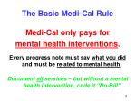 the basic medi cal rule
