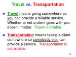 travel vs transportation