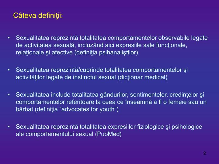 Definitia sexualitatii
