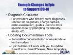 example changes in epic to support icd 10
