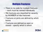multiple fractures